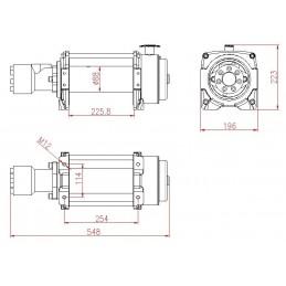 Troliu Hidraulic Winchmax 10.000lb