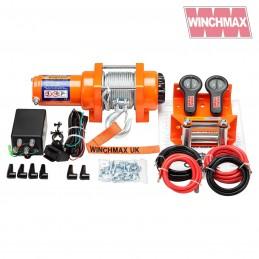 Troliu Winchmax 3000lb cu cablu otel