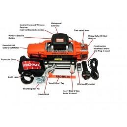 Troliu Winchmax SL13500lb cu cablu otel