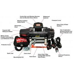 Troliu Winchmax SL 13500lb Military cu cablu otel