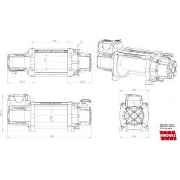 Troliu Winchmax SL17500lb cu cablu otel