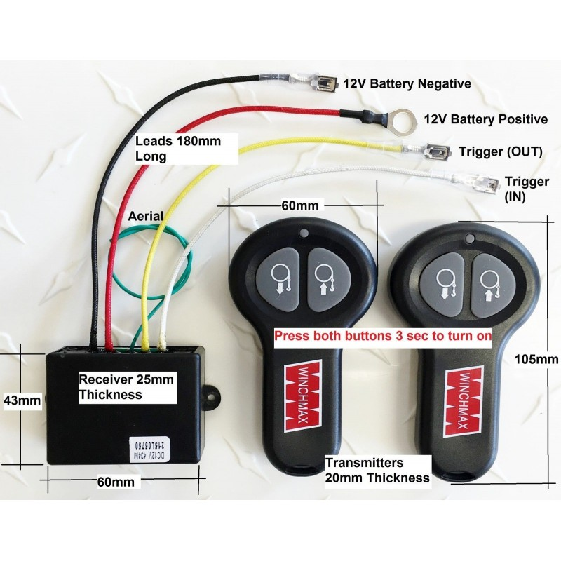 Wireless remote control kit