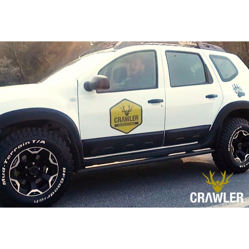 Crawler(r) metal side skirts