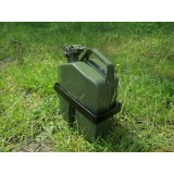 Jerry Can and holder for spare tire carrier